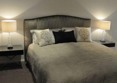 Upholstered Bedhead & Bedding